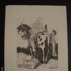 Arte: EX LIBRIS - ANTON ROCH - VER FOTOS Y TAMAÑO - (X-1427). Lote 60258699