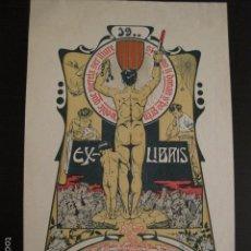 Arte: EX LIBRIS - JOSEPH MONSALVATJE - RENART - VER FOTOS Y TAMAÑO - (X-1478). Lote 60271055