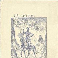 Arte: EXLIBRIS DON QUIJOTE. WODRAZKA 1930 PARA JAN A VAÑA 20 X 15 CM. Lote 63159992