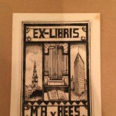 Arte: BOOKPLATE - EX LIBRIS - LODEWIJK SCHELFHOUT - MR. R. V REES - NEW YORK - FLATIRON - FIRMADO - 1921. Lote 63247896