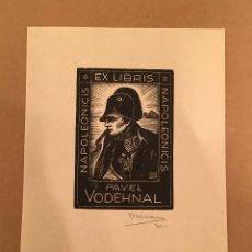 Arte: BOOKPLATE - EX LIBRIS - JARO BERAN - PAVEL VODEHNAL - NAPOLEONICIS - NAPOLEON - FIRMADO - 1931. Lote 63248800