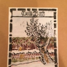 Arte: BOOKPLATE - EX LIBRIS - WALTER LAUTERBACH - MEIN BUCH / PAULA - FIRMADO - EXPRESIONISMO - 1920. Lote 63251908
