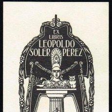 Arte: EX LIBRIS TRIADÓ PARA LEOPOLDO SOLER OPUS 86. 6,30X14,80 CM.. Lote 63359508