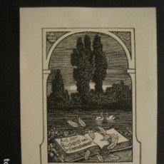 Arte: EX LIBRIS - VER FOTOS Y MEDIDA -(X-1498). Lote 64714199