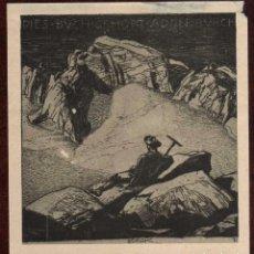 Arte: GIROEXLIBRIS.- EXLIBRIS PAUL BÜRCK CON UNA MEDIDA DE 9 X 10 CENTÍMETROS . Lote 64928827