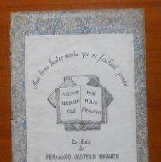 Arte: FERNANDO CASTELO BRANCO 14 X 10. Lote 65688022