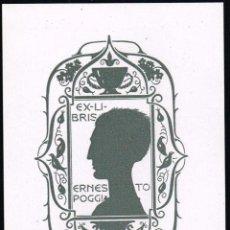 Arte: EX LIBRIS TRIADÓ PARA ERNESTO POGGIA OPUS 263. 7,30X10,20 CM.. Lote 65900938