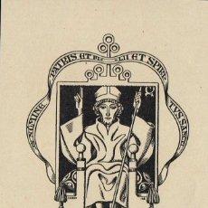 Arte: EX LIBRIS TRIADÓ 1918 PACIA BOIXADO. OPUS 168 7,50X8,50 CM.. Lote 65904218