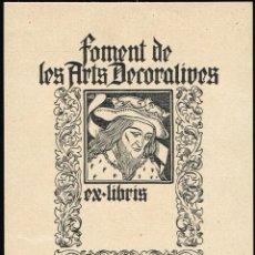 Arte: EX LIBRIS TRIADÓ FOMENTO ARTES DECORATIVAS. OPUS 247 8,80X12,40 CM.. Lote 65904266