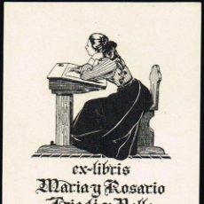 Arte: EX LIBRIS TRIADÓ PARA MARÍA Y ROSARIO TRIADÓ OPUS 206 6,50X9,10 CM.. Lote 65941418