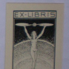 Arte: X.759 EX-LIBRIS EXLIBRIS BOOKPLATE VILLELA, 1942. DESNUDO GLOBO HÉLICE AVIACIÓN. Lote 103956182