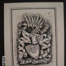 Arte: EX LIBRIS -VER FOTOS Y MEDIDA - (X-1548). Lote 69267469