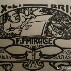 Arte: EX LIBRIS - MIRACLE - ILUSTRADO POR CORNET -VER FOTOS Y MEDIDA - (X-1558). Lote 69269073
