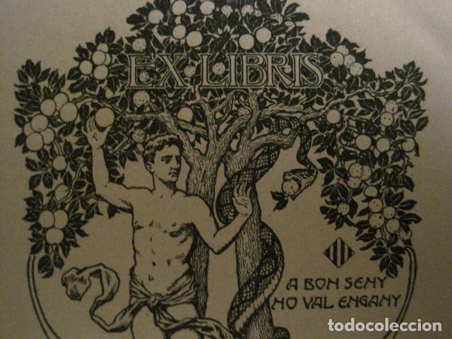 Arte: EX LIBRIS - GERMANS MIQUEL - MODERNISTA -VER FOTOS Y MEDIDA - (X-1563) - Foto 3 - 69271601