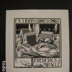 Arte: EX LIBRIS - MIRACLE - ILUSTRADO POR TRIADO -VER FOTOS Y MEDIDA - (X-1568). Lote 69272181