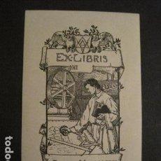 Arte: EX LIBRIS - WALTER MIRAVER -VER FOTOS Y MEDIDA - (X-1573). Lote 69273105