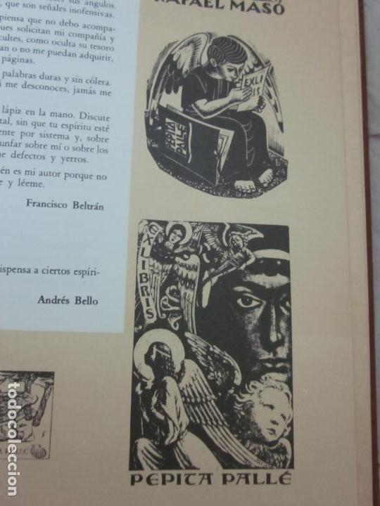 Arte: Raro libro catalogo de exlibris. Librorum liber, 1985, ex libris - Foto 5 - 70412301