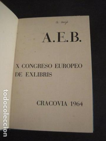 EX LIBRIS - AEB -X CONGRESO CRACOVIA 1964- LIBRO NUMERADO EXLIBRIS GRABADOS ETC. -VER FOTOS-(X-1583) (Arte - Ex Libris)