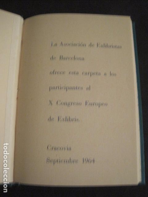Arte: EX LIBRIS - AEB -X CONGRESO CRACOVIA 1964- LIBRO NUMERADO EXLIBRIS GRABADOS ETC. -VER FOTOS-(X-1583) - Foto 5 - 78879769