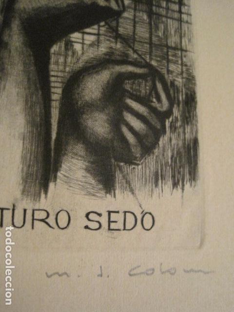 Arte: EX LIBRIS - AEB -X CONGRESO CRACOVIA 1964- LIBRO NUMERADO EXLIBRIS GRABADOS ETC. -VER FOTOS-(X-1583) - Foto 10 - 78879769