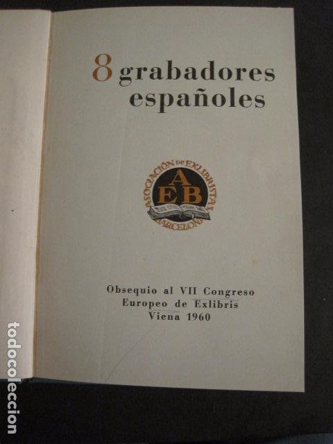 EX LIBRIS - 8 GRABADORES - VII CONGRESO VIENA 1960- LIBRO EXLIBRIS . -VER FOTOS-(X-1584) (Arte - Ex Libris)