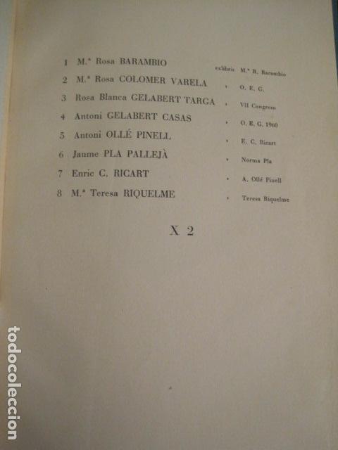 Arte: EX LIBRIS - 8 GRABADORES - VII CONGRESO VIENA 1960- LIBRO EXLIBRIS . -VER FOTOS-(X-1584) - Foto 4 - 78880521
