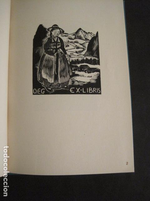 Arte: EX LIBRIS - 8 GRABADORES - VII CONGRESO VIENA 1960- LIBRO EXLIBRIS . -VER FOTOS-(X-1584) - Foto 6 - 78880521