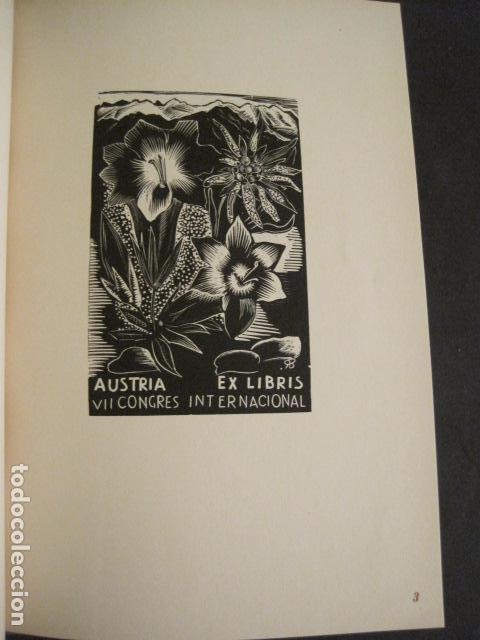 Arte: EX LIBRIS - 8 GRABADORES - VII CONGRESO VIENA 1960- LIBRO EXLIBRIS . -VER FOTOS-(X-1584) - Foto 7 - 78880521