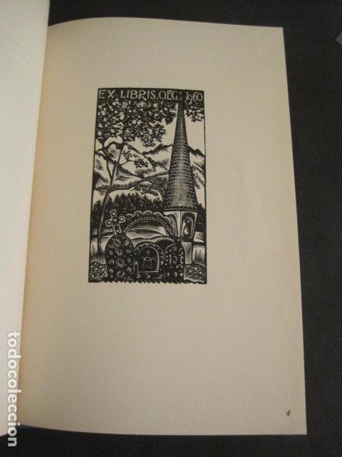 Arte: EX LIBRIS - 8 GRABADORES - VII CONGRESO VIENA 1960- LIBRO EXLIBRIS . -VER FOTOS-(X-1584) - Foto 8 - 78880521
