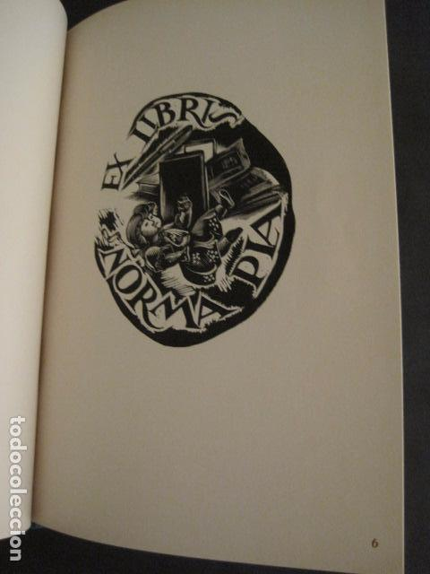 Arte: EX LIBRIS - 8 GRABADORES - VII CONGRESO VIENA 1960- LIBRO EXLIBRIS . -VER FOTOS-(X-1584) - Foto 10 - 78880521
