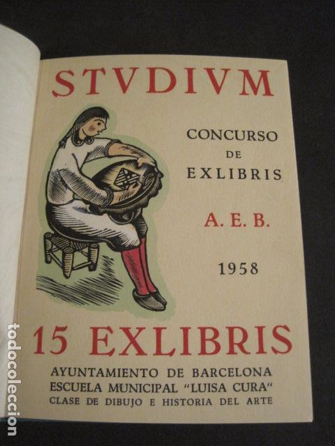 EX LIBRIS - STVDIVM - CONCURSO AÑO 1958 - LIBRO EXLIBRIS , FIRMAS - ETC... . -VER FOTOS-(X-1586) (Arte - Ex Libris)