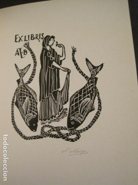 Arte: EX LIBRIS - STVDIVM - CONCURSO AÑO 1958 - LIBRO EXLIBRIS , FIRMAS - ETC... . -VER FOTOS-(X-1586) - Foto 18 - 78889677
