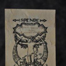Arte: EX LIBRIS SPENDE 1924 SIEGMUND SUCHODOLSKI . Lote 80622950