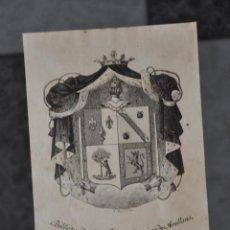 Arte: EX LIBRIS FELICIANO RAMIREZ DE ARELLANO MARQUES DE LA FUENSANTA DEL VALLE , BALTASAR MAURA . Lote 80625870