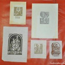 Arte: EX LIBRIS , LOTE DE 5 , MARIA - BEVILACQUA - ELVIRA BARBES- FOLLINA - . Lote 80839639