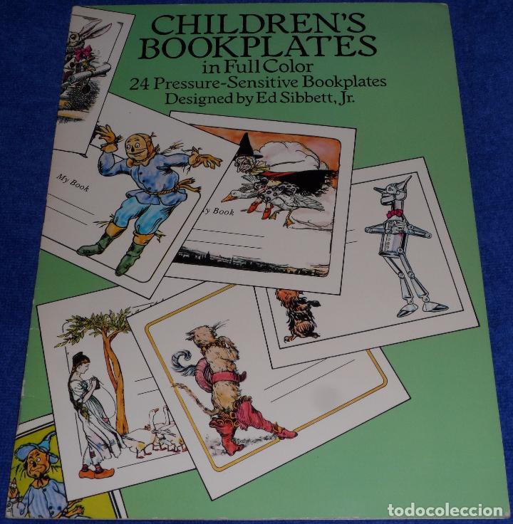 CHILDREN'S BOOKPLATES IN FULL COLOR - ED SIBBETT , JR - SENSITIVE BOOKPLATES PAPERBACK (1991) (Arte - Ex Libris)