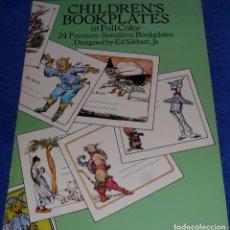 Arte: CHILDREN'S BOOKPLATES IN FULL COLOR - ED SIBBETT , JR - SENSITIVE BOOKPLATES PAPERBACK (1991). Lote 84157352