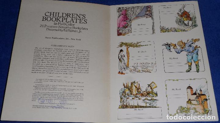 Arte: Children's Bookplates in Full Color - Ed Sibbett , Jr - Sensitive Bookplates Paperback (1991) - Foto 2 - 84157352