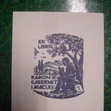 Arte: RAMON GABERNET I MACIA - PORTAL DEL COL·LECCIONISTA****. Lote 84309540