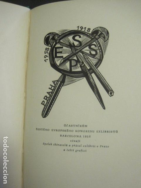 EX LIBRIS - TXECOSLOVACOS - LIBRO NUMERADO EXLIBRIS - BARCELONA 1958 . -VER FOTOS-(X-1591) (Arte - Ex Libris)