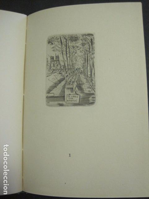 Arte: EX LIBRIS - TXECOSLOVACOS - LIBRO NUMERADO EXLIBRIS - BARCELONA 1958 . -VER FOTOS-(X-1591) - Foto 8 - 84619752