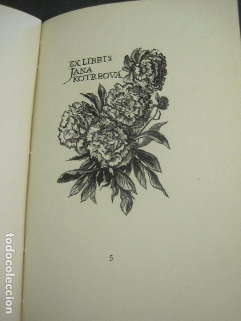 Arte: EX LIBRIS - TXECOSLOVACOS - LIBRO NUMERADO EXLIBRIS - BARCELONA 1958 . -VER FOTOS-(X-1591) - Foto 13 - 84619752