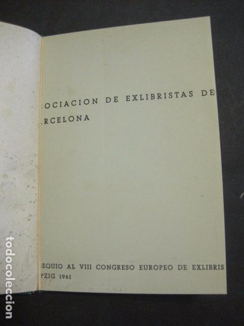 EX LIBRIS -LEIPZIG - LIBRO EXLIBRIS -1961 . -VER FOTOS-(X-1592) (Arte - Ex Libris)