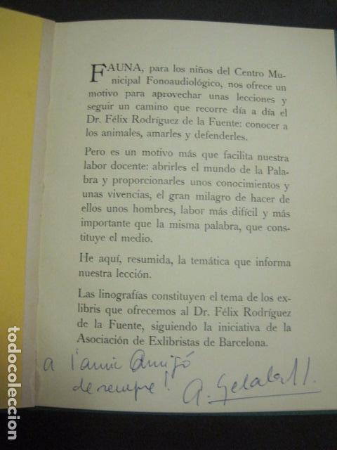 Arte: EX LIBRIS - BASADOS EN EL TEMA FAUNA - LIBRO EXLIBRIS -1970 . -VER FOTOS-(X-1593) - Foto 5 - 84629912