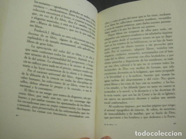 Arte: EX LIBRIS - MARQUES DE SAN JUAN DE PIEDRAS ALBAS-LIBRO EXLIBRIS NUMERADO AÑO 1946-VER FOTOS-(X-1594) - Foto 8 - 84630584
