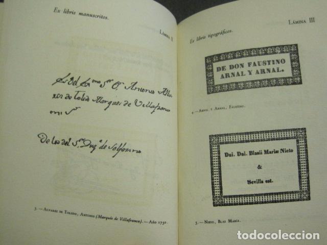 Arte: EX LIBRIS - MARQUES DE SAN JUAN DE PIEDRAS ALBAS-LIBRO EXLIBRIS NUMERADO AÑO 1946-VER FOTOS-(X-1594) - Foto 10 - 84630584