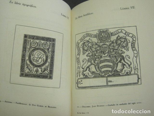 Arte: EX LIBRIS - MARQUES DE SAN JUAN DE PIEDRAS ALBAS-LIBRO EXLIBRIS NUMERADO AÑO 1946-VER FOTOS-(X-1594) - Foto 12 - 84630584