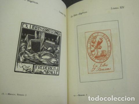 Arte: EX LIBRIS - MARQUES DE SAN JUAN DE PIEDRAS ALBAS-LIBRO EXLIBRIS NUMERADO AÑO 1946-VER FOTOS-(X-1594) - Foto 16 - 84630584