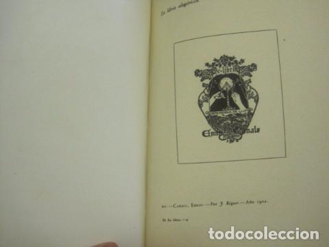 Arte: EX LIBRIS - MARQUES DE SAN JUAN DE PIEDRAS ALBAS-LIBRO EXLIBRIS NUMERADO AÑO 1946-VER FOTOS-(X-1594) - Foto 18 - 84630584