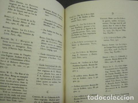 Arte: EX LIBRIS - MARQUES DE SAN JUAN DE PIEDRAS ALBAS-LIBRO EXLIBRIS NUMERADO AÑO 1946-VER FOTOS-(X-1594) - Foto 19 - 84630584
